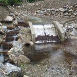 Technischer Beckenpass KW Greith (Epirhithral Größenbestimmender Fisch: Bachforelle 20 cm)