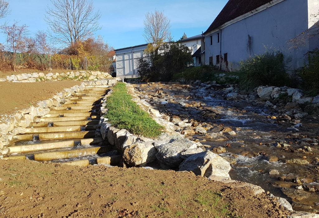 Sanierung der Sohlstufe in Sinabelkirchen