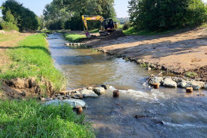 Gewässerstrukturierung an der Pinka (Oberwart)